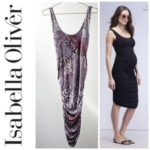 Isabella Oliver Super Soft Ruched Maternity Dress